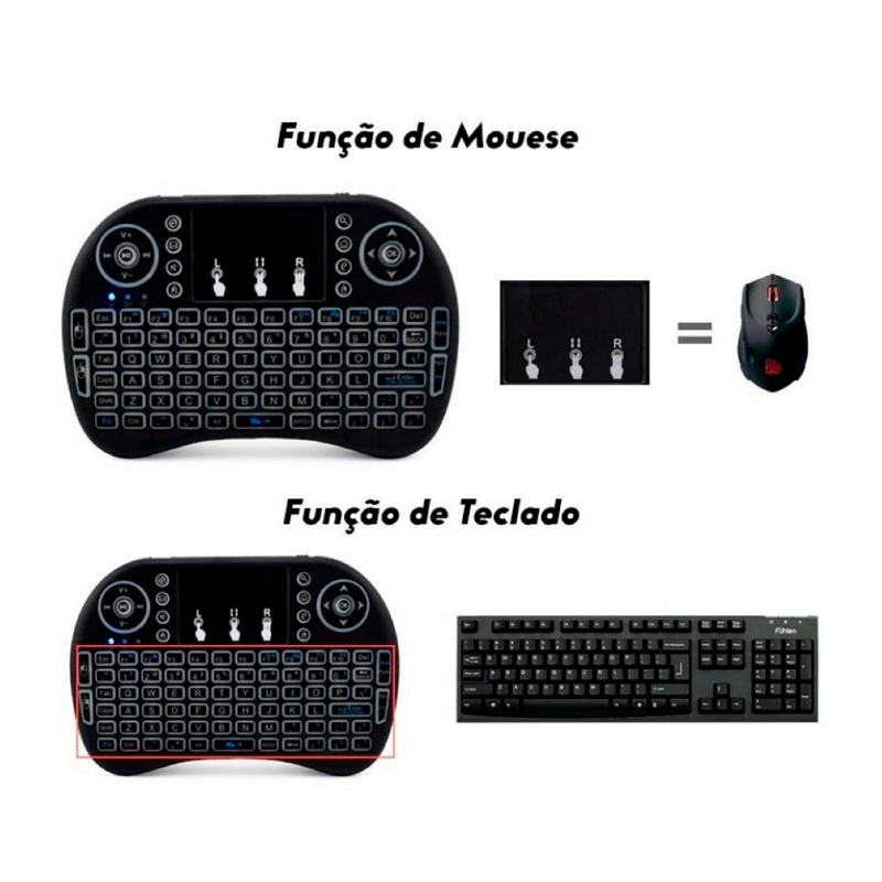 Mini teclado - Para Celular, Tablet e TV