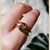 Gold Double Knot Ring