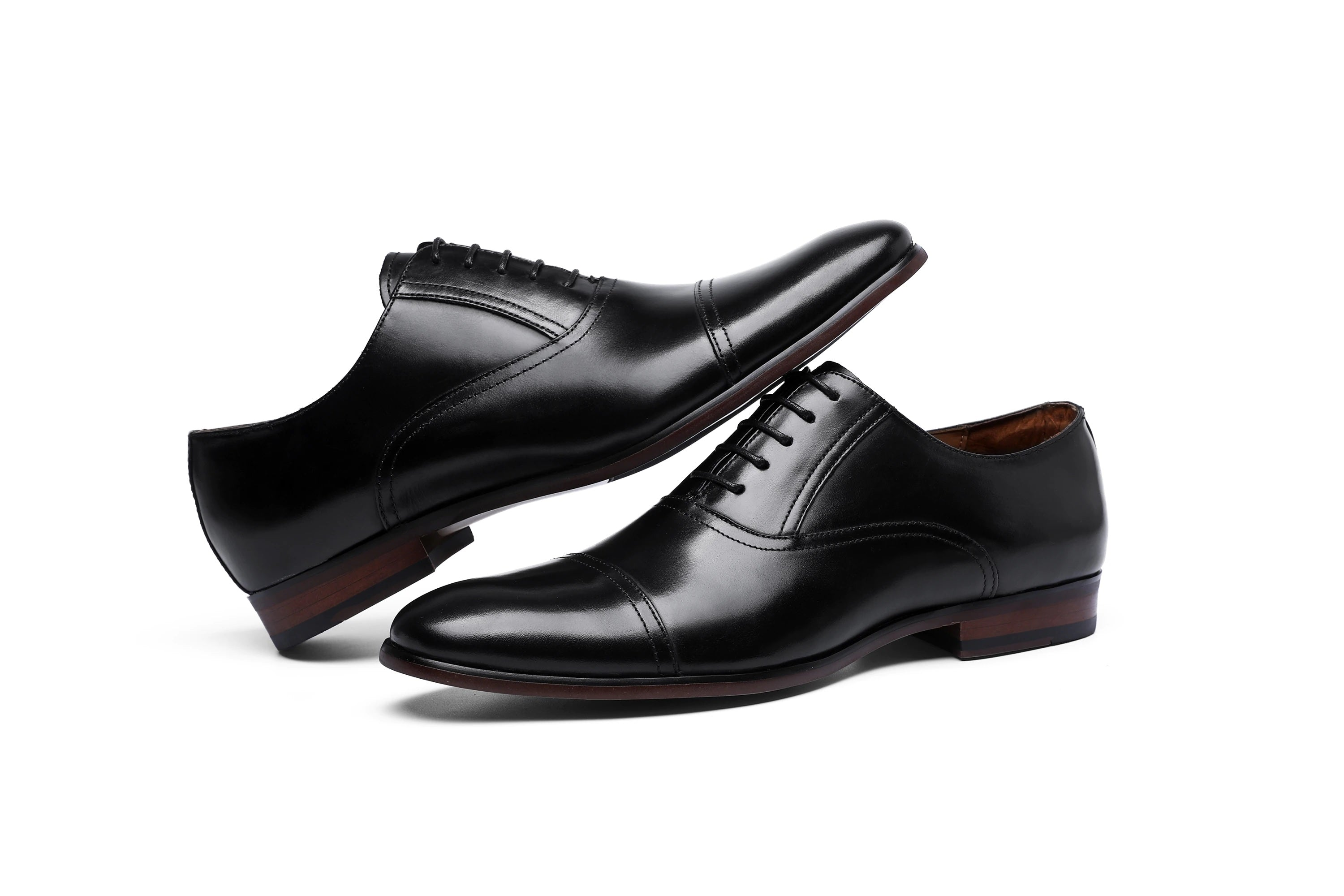 DESAI Brand Full Grain Genuine Leather Business Men Dress Shoes Retro Patent Leather Oxford Shoes For Men EU Size 38-47 - Lordlys-Imperials