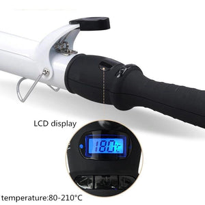 LCD Temperature Adjustment hair curler professional hair curl irons curling wand - Lordlys-Imperials