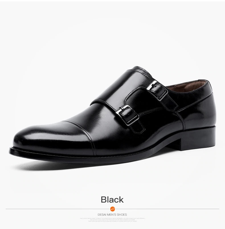 DESAI Large Size Tip Laces Business Increased Height Breathable Men's Dresses Leather Shoes - Lordlys-Imperials