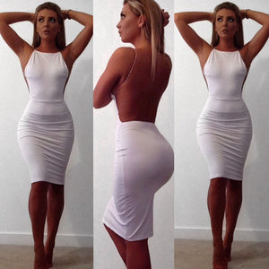 Women's Sleeveless Sexy Backless Party Cocktail Dress - Lordlys-Imperials