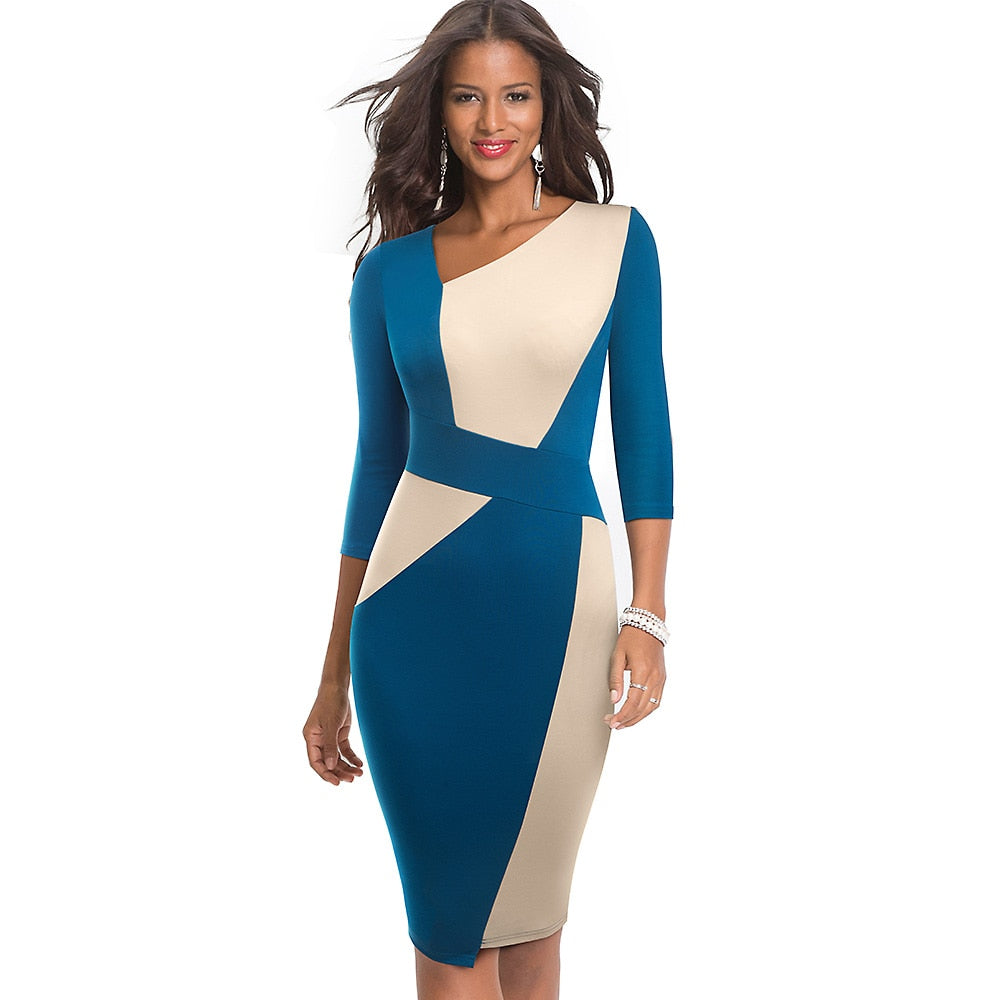 Business Party Bodycon Office Elegant Women Dress - Lordlys-Imperials