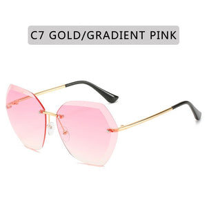 2020 New Fashion Vintage Rimless Sunglasses For Women - Lordlys-Imperials