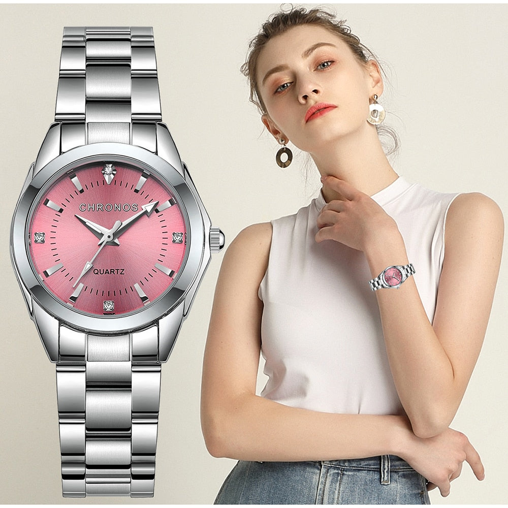 Luxury Stainless Steel Quartz Women Watch - Lordlys-Imperials