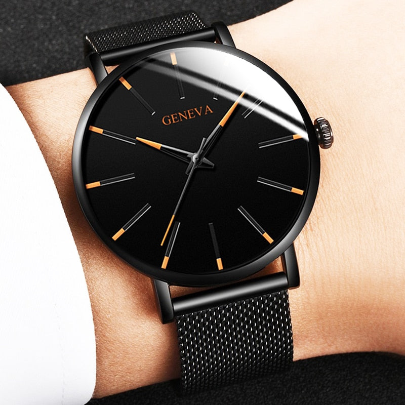 2020 Ultra Thin Simple Men's Business Watch Relogio Masculine - Lordlys-Imperials