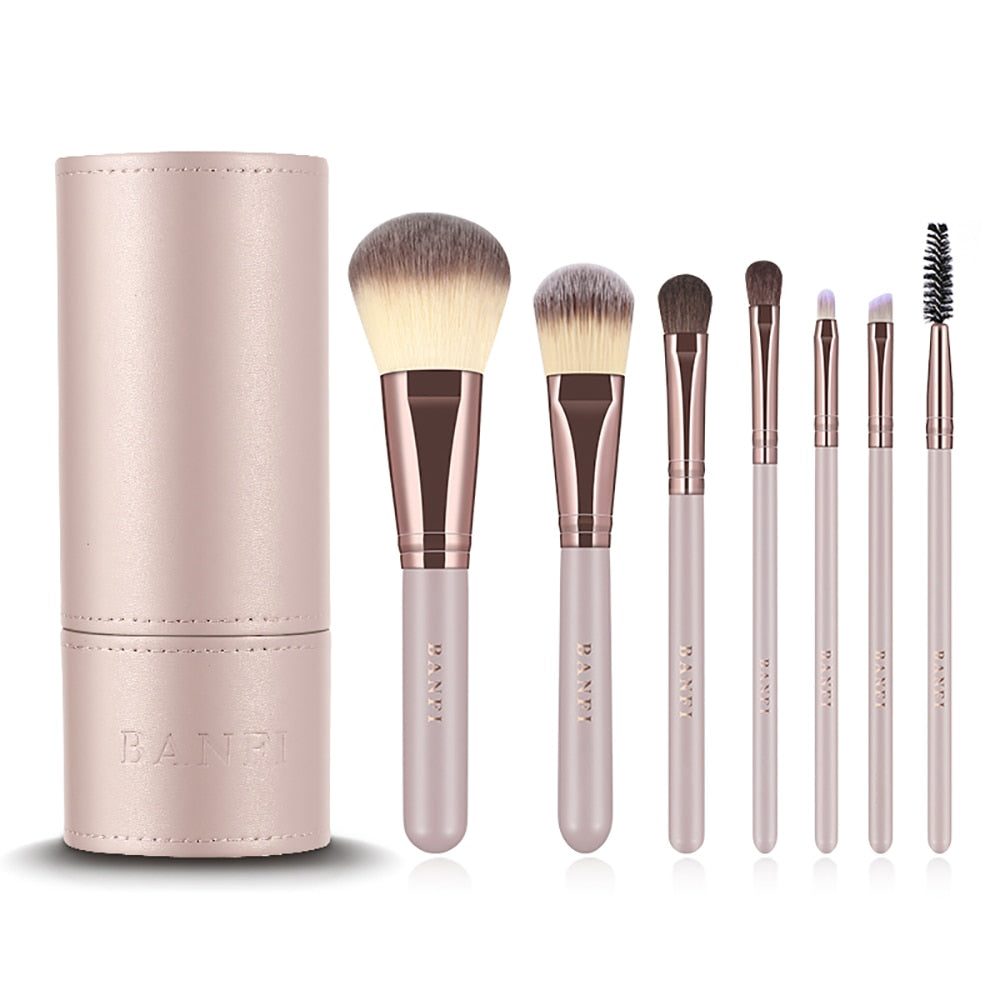7PCS Makeup Brushes Kit Concealer Cosmetic - Lordlys-Imperials