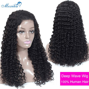 Deep Wave Closure Wig Human Hair Lace Frontal Wigs 180 Lace Front Wig - Lordlys-Imperials