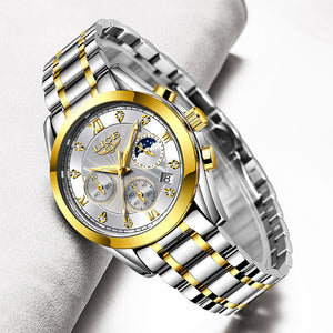 LIGE 2020 New Gold Watch For Women - Lordlys-Imperials