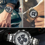 Luxury Black Sports Wrist Watch For Men - Lordlys-Imperials