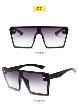2020 Flat Top Oversize Square Sunglasses For Women - Lordlys-Imperials