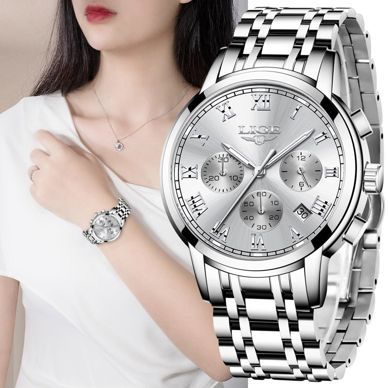 LIGE 2020 New Fashion Womens Watch - Lordlys-Imperials