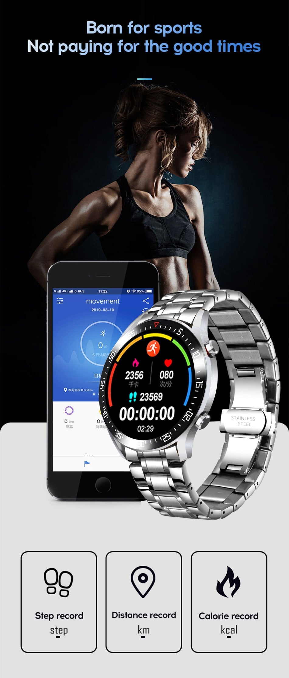 UniSex Smart Watch LED Full Touch Screen For Android iOS - Lordlys-Imperials
