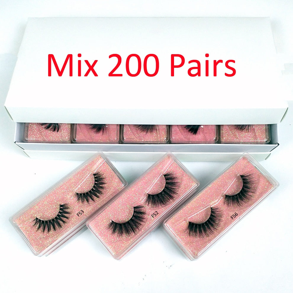 3D Mink Lashes Natural False Eyelashes - Lordlys-Imperials
