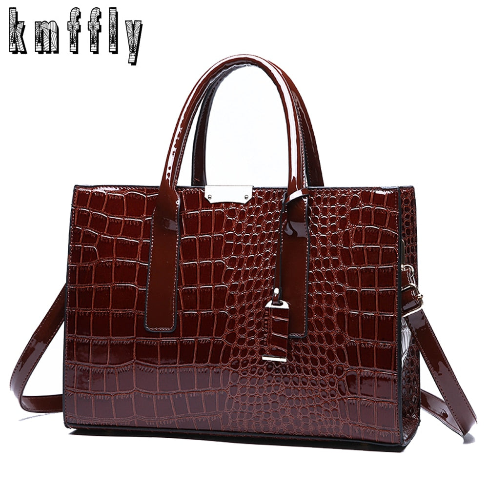Fashion Crocodile Pattern Ladies Handbags - Lordlys-Imperials