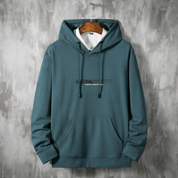 Plus Size 8XL Men Casual Hoodie Men's Spring Autumn Sweatshirts Casual Pullover Hoodless Sweatshirt Hip Hop Male Streetwear