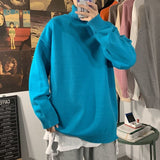 Privathinker Men's Solid Color Autumn Sweater 2020 Winter Woman Thickened Pullovers Korean Streetwear Man Turtleneck Sweaters