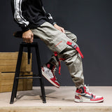 Hip Hip Streetwear Men's Joggers Ankle-Length Pants 2019 Men Cotton Pant Trousers Elastic Waist Pant Men HA027
