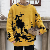 Privathinker New Fashion Tie Dye Men Sweaters 2020 Autumn Loose Pullovers Men's  Korean Hip Hop Streetwear Oversized Casual Tops