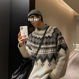 Privathinker Men's 2020 Winter Warm Sweater Korean Streetwear Fashion Pullovers Sweater Autumn Graphic Printed Casual Clothing