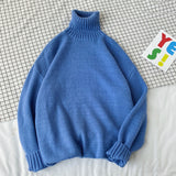 Privathinker 2020 Autumn Winter Turtleneck Sweater For Women 8 Solid Color Knitted Sweaters Korean Female Casual Pullover