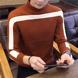 2019 New Autumn Winter Casual Pullover Men Long Sleeve Slim Fit Turtleneck Knitted Brand Sweater Fashion Mens Warm Sweaters