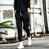 Hip Hip Cargo Pants Men Ankle-Length Pants Men's Joggers Streetwear Solid Color 2019 Spring Pocket Trousers for Male HD033