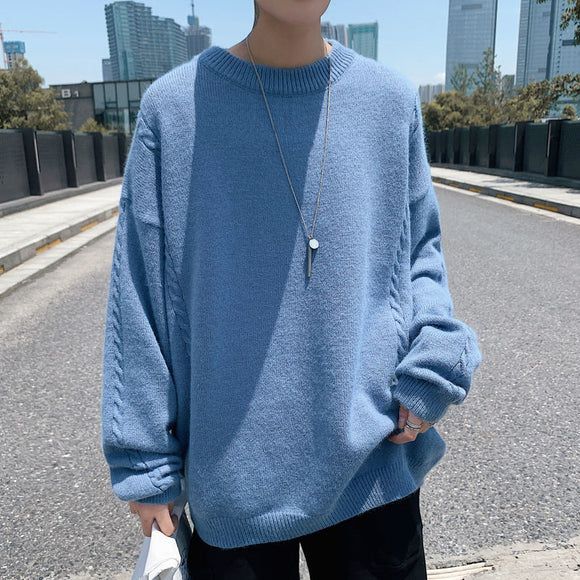 Privathinker Men's Solid Color Sweaters Casual Oversize Woman Pullovers Korean Streetwear Fashion 2020 Winter Male Clothing