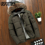 2020 New Brand Winter Jacket Men Parka Big Size 3XL 4XL Fur Collar Hooded White Duck Down Jacket Thick Down Jacket Men Warm Coat