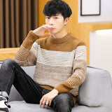 Sweater Men 2018 New Arrival Casual youth Pullover Men Autumn Round Neck Patchwork Quality Knitted Brand Male Sweaters