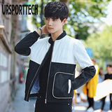 New Fashion Jacket Men Brand 2019 Spring Summer Slim Fit Bomber Jacket Men Casual Varsity Splice Jackets and Coats Plus Size 3XL