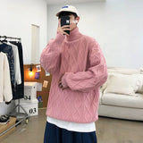 Privathinker Men's Oversize Turtleneck Sweater 2020 Winter Woman Solid Color Seven Color Warm Sweater Streetwear Clothing