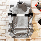 2020 Autumn New Men's Turtleneck Sweaters Pullover Male Solid Color Slim Fit Turtleneck Sweater Tops Knitted Pullovers M-3XL