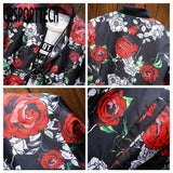 URSPORTTECH Men's Jacket 2020 Spring Autumn New Flower Print Jackets Male Japanese Streetwear Designer Slim Coats Outwear M-5XL