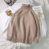 Privathinker 2020 Winter Couple Sweaters Casual Oversize Men's Pullovers Korean Streetwear Turtleneck Soild Color Male Sweater