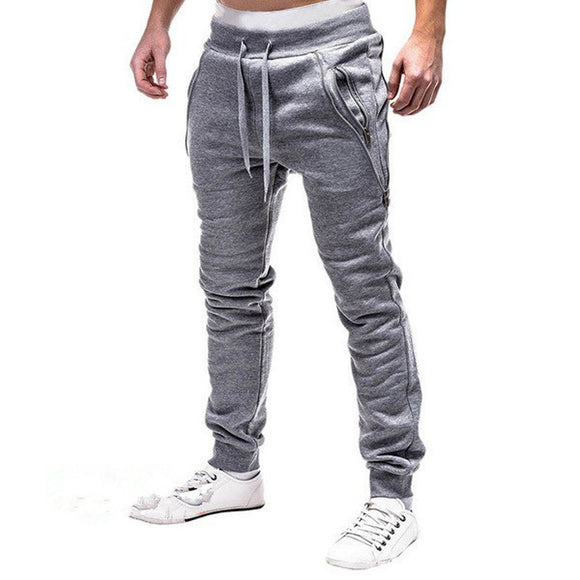Men's Track Pants Casual Drawstring Sweat Full Length Broadcloth Pencil Casual Pants Big Size 3Xl Dark Gray Trousers 2019 New
