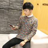 2018 New Fashion Mens Christmas Sweater Casual Slim Fit Male Clothing Long Sleeve Knitted Pullovers Winter Thick Sweater