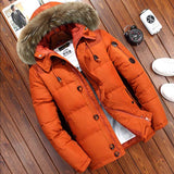 2020 New Brand Winter Jacket Men Big Size 3XL 4XL Real Fur Collar Hooded White Duck Down Jacket Thick Down Jackets Men Warm Coat