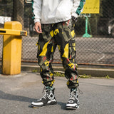 Hip Hip Streetwear Men's Camouflage Cargo Joggers Pants 2019 Spring Summer Men Harem Pants Trousers Casual Pant Thin WJ227