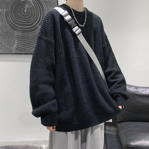 Privathinker Men's Casual Solid Color Sweaters 2020 Winter New Woman Warm Oversize Sweater Korean Streetwear Pullovers Sweater