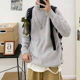 Privathinker Men's Solid Color Autumn and winter 2020 high collar rabbit hair loose fashion men's sweater camel a312-my75 P60
