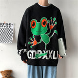 Privathinker Meb's Big Size Casual Pullover Sweater 2020 Winter New Cartoon Woman Clothing Graphic Printed Fashion Male Sweater