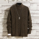 Men Sweaters Casual Autumn Winter O-Neck Slim Cotton Knit Quality Men Sweater Patchwork Pullovers Male