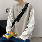 Privathinker 2020 Autumn Winter Men's Sleeveless Sweater Casual Oversize Couple Sweaters Man Fashion Streetwear Pullovers