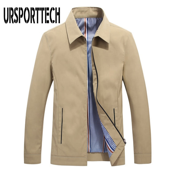 2019 New British Style Mens Thin Jacket Coat Male Casual Turn Down Collar Bomber Jacket And Coat Men Military Tactical Jackets