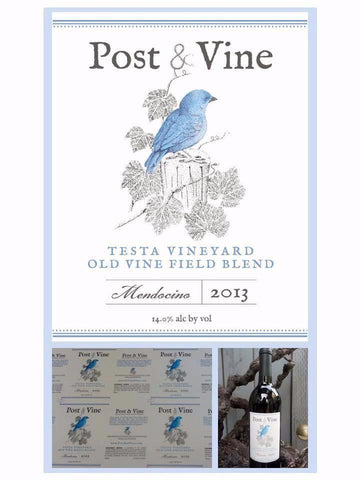 2013 Post & Vine                                                 Old Vine Field Blend (limited quantity avail.)