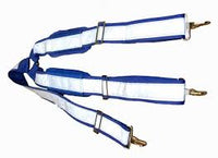 "Blue Full Reflective 2"" Snap on Suspenders"
