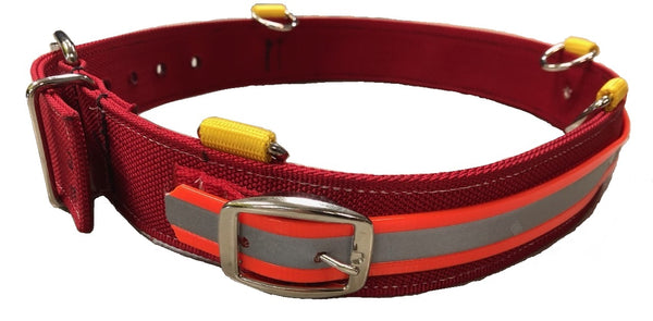Nylon, Reflective Mining Belt, Red/orange