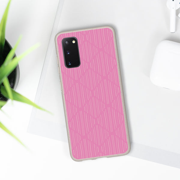 Pink Hand Strokes Samsung Galaxy Biodegradable Phone Case