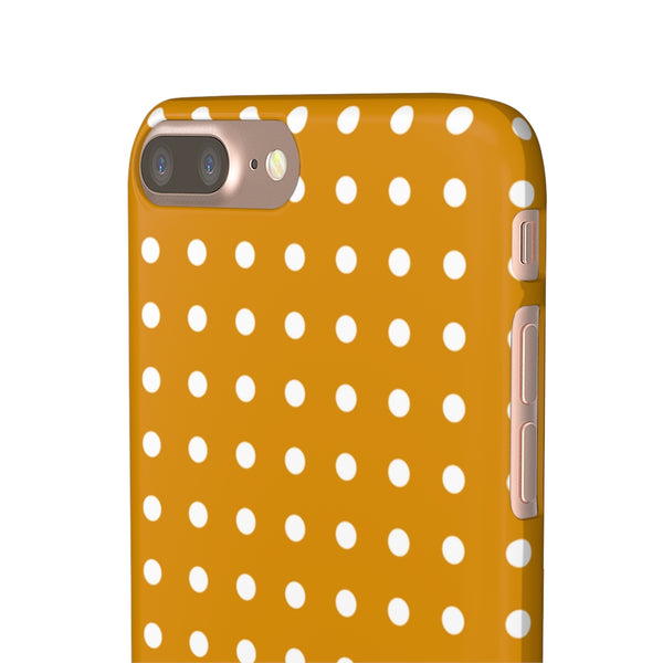 Mustard Polka Dot iPhone Snap Phone Case